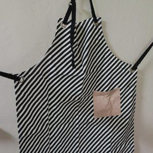 Ferm Living Striped Apron w/ Pink Pocket